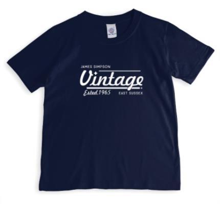 T-Shirts - Personalised Est. Vintage T-Shirt - Image 1