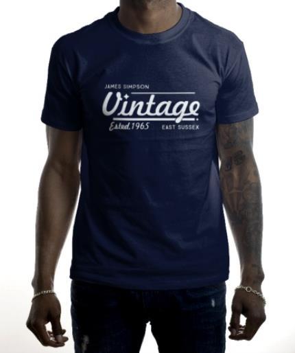 T-Shirts - Personalised Est. Vintage T-Shirt - Image 2