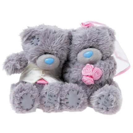 Soft Toys - Bride and Groom Tatty Teddy - Image 1