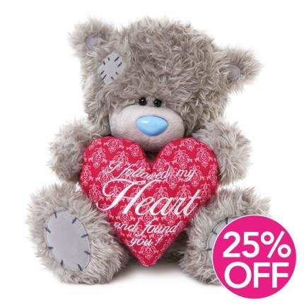 Soft Toys - Love Heart Tatty Teddy - Image 1