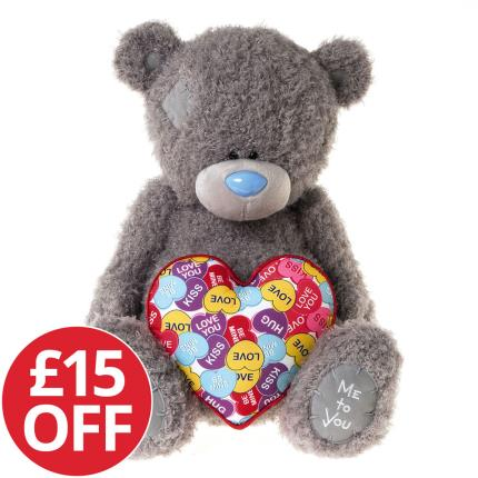 Soft Toys - Large Tatty Teddy Holding a Heart - NEW & £15 OFF! - Image 1