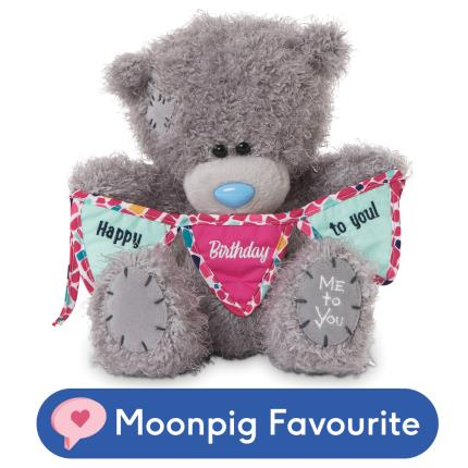 Soft Toys - Tatty Holding 'Happy Birthday To You' Bunting - Image 1