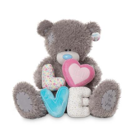 Soft Toys - Extra Large 'Love' Tatty Teddy - Image 1