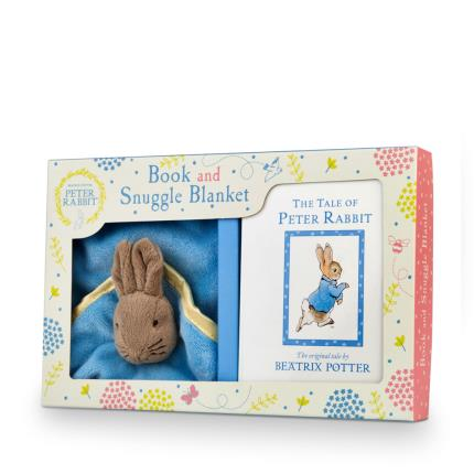 Soft Toys - Peter Rabbit Book and Snuggle Blanket Baby Gift Set - Image 1