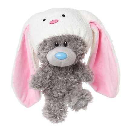 Soft Toys - My Dinky Bear Wearing Bunny Hat - Image 2