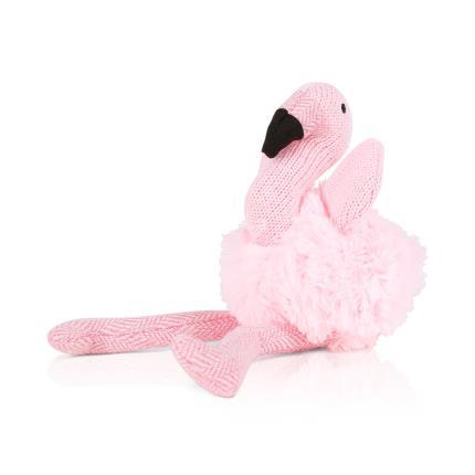 Soft Toys - Knitted Flamingo Rattle - Image 1