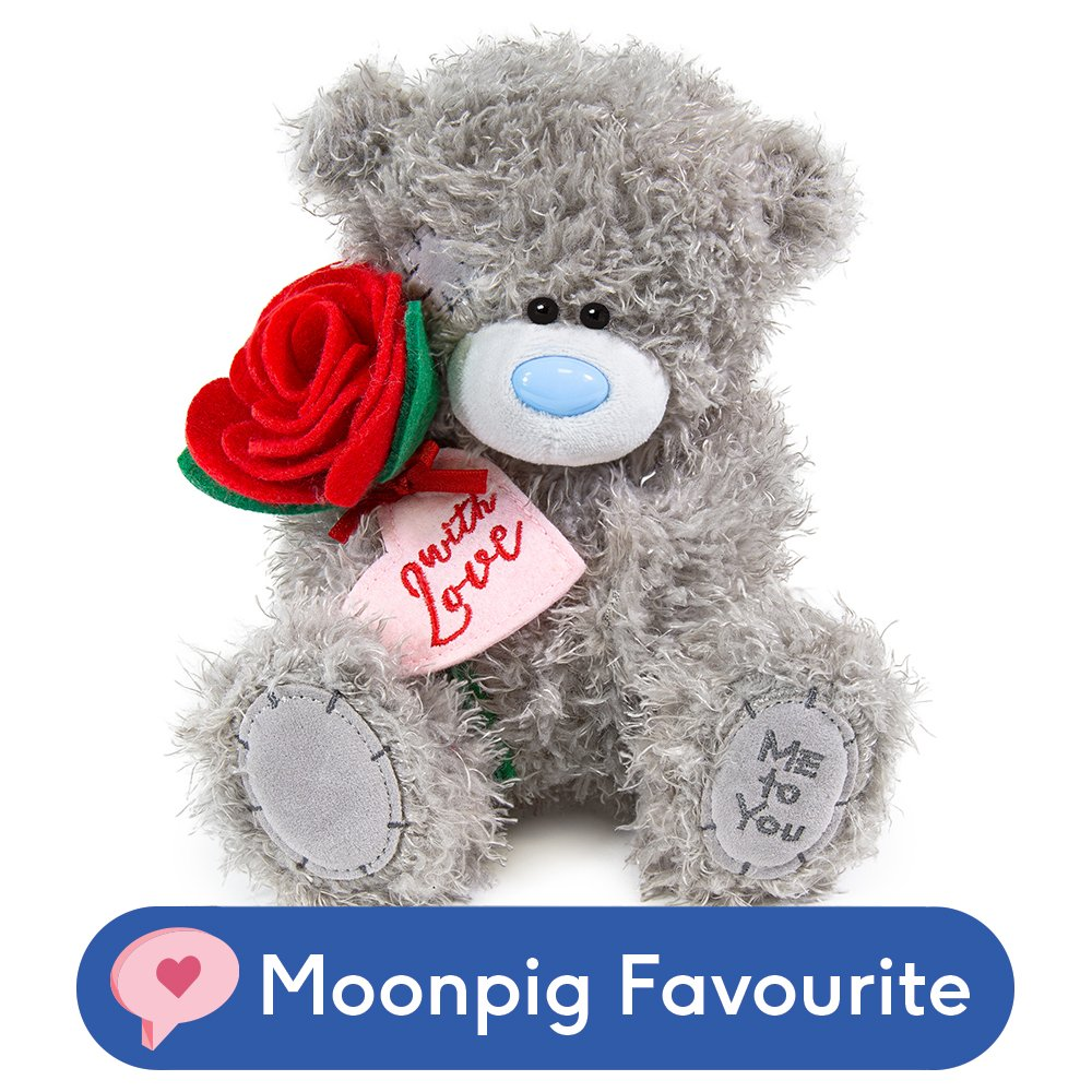 Soft Toys - Exclusive Tatty Teddy Holding Roses - Image 1