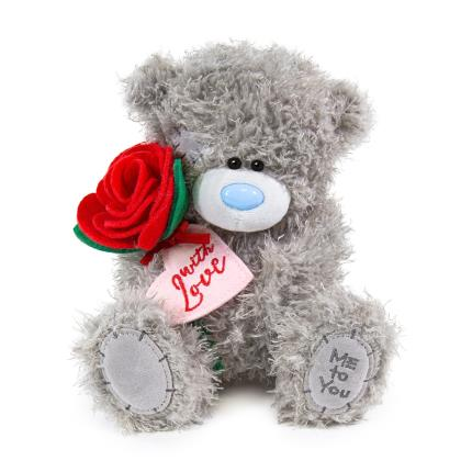 Soft Toys - Exclusive Tatty Teddy Holding Roses - Image 2