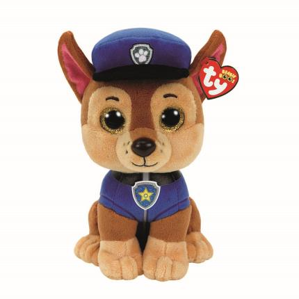 Soft Toys - Paw Patrol Ty Beanie Boo Chase - Image 1