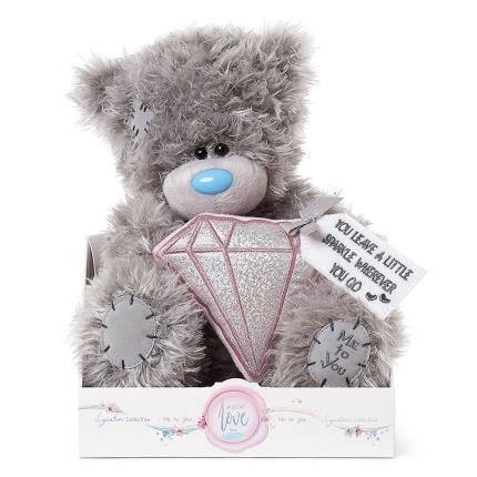 Soft Toys - Tatty Teddy Holding a Diamond - Image 1