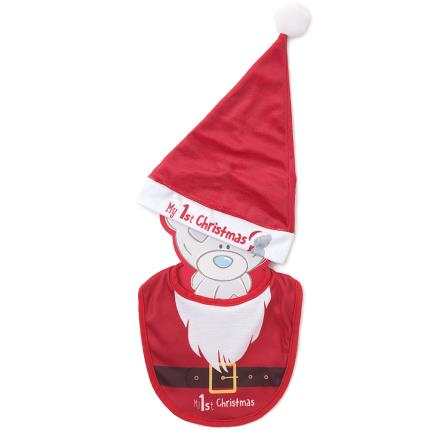 Soft Toys - Me to You Tatty Teddy Bib & Santa Hat Set Baby Gift - Image 1