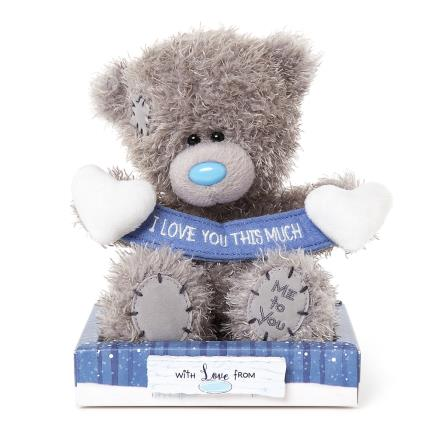 Soft Toys - Me to You Tatty Teddy I Love You Banner Soft Toy - Image 1