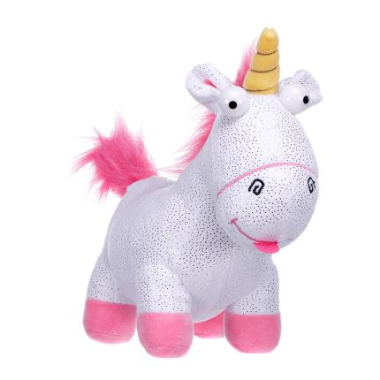 Soft Toys - Despicable Me 3 Glitter Fluffy Unicorn Soft Toy - Image 1