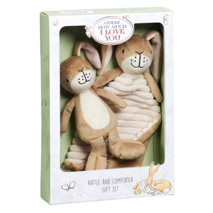 Soft Toys - Guess How Much I Love You Rattle & Comfort Blanket Gift Set - Image 1