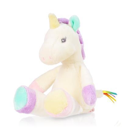 Soft Toys - Aurora Rainbow Unicorn Plush Baby Rattle - Image 1