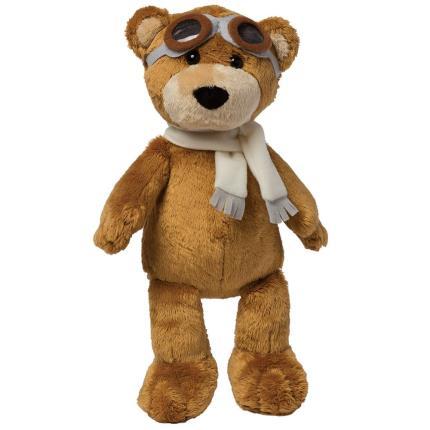 Soft Toys - Manhattan Toy Aviator Pilot Brown Bear Soft Toy - Image 1