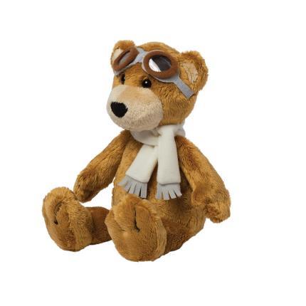 Soft Toys - Manhattan Toy Aviator Pilot Brown Bear Soft Toy - Image 3