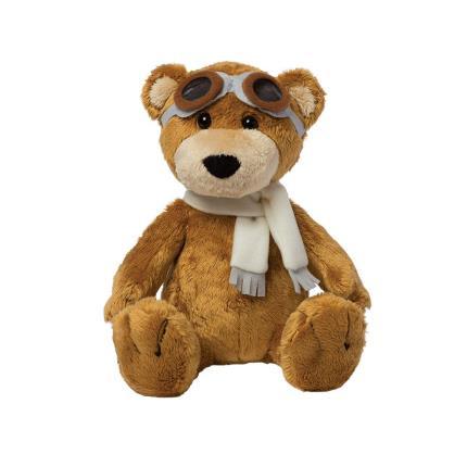 Soft Toys - Manhattan Toy Aviator Pilot Brown Bear Soft Toy - Image 4