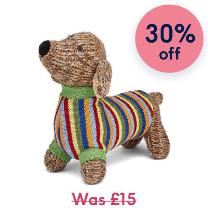 Soft Toys - Best Years Cute Knitted Sausage Dog Soft Toy - Image 1