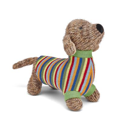 Soft Toys - Best Years Cute Knitted Sausage Dog Soft Toy - Image 3