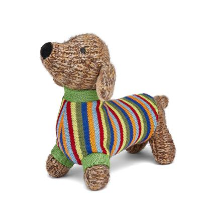Soft Toys - Best Years Cute Knitted Sausage Dog Soft Toy - Image 4