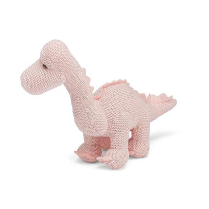 Soft Toys - Best Years Knitted Pink Dinosaur Toy Rattle - Image 3