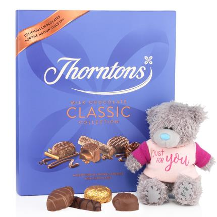 Soft Toys - Thorntons Chocolates and Just For You Tatty Teddy Gift Set - Image 1