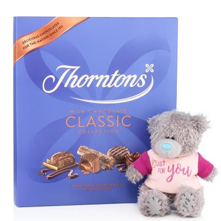 Soft Toys - Thorntons Chocolates and Just For You Tatty Teddy Gift Set - Image 4