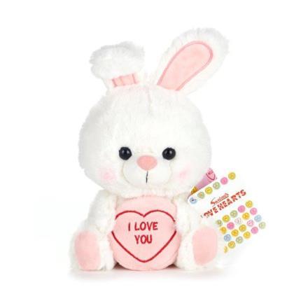 Soft Toys - I Love You Bunny Plush - Image 1