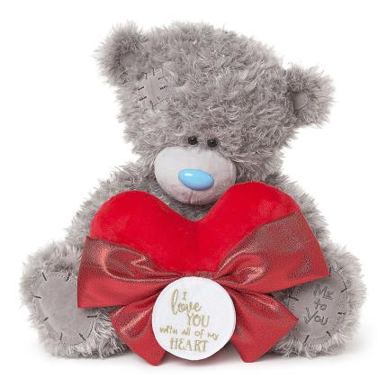 Soft Toys - Tatty Teddy Bear with Heart - Image 1