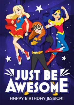 DC Super Hero Girls Awesome Birthday Activity Card