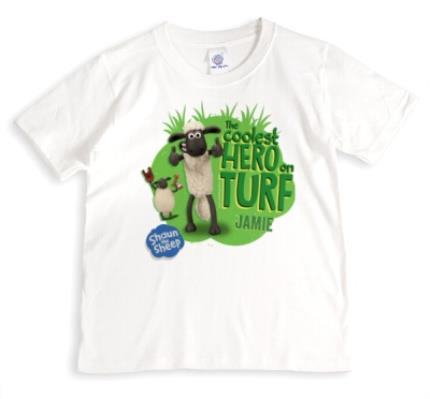 T-Shirts - Shaun The Sheep Coolest Hero On Turf T-Shirt  - Image 1