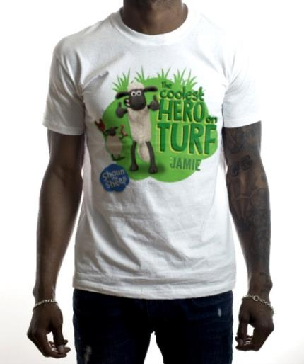 T-Shirts - Shaun The Sheep Coolest Hero On Turf T-Shirt  - Image 2