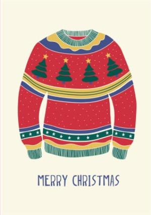 Greeting Cards - Merry Christmas Jumper Card - Image 1