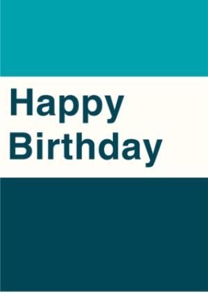 Plain Birthday Card