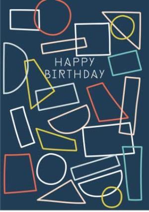 Greeting Cards - Birthday card - easy send - geometric - Image 1