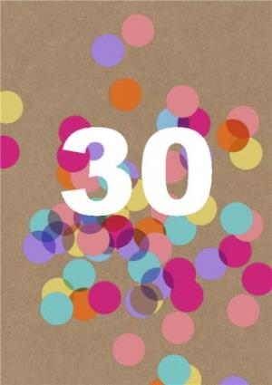 Greeting Cards - Birthday Card - 30 - Thirtieth - Spots - Pattern - Image 1