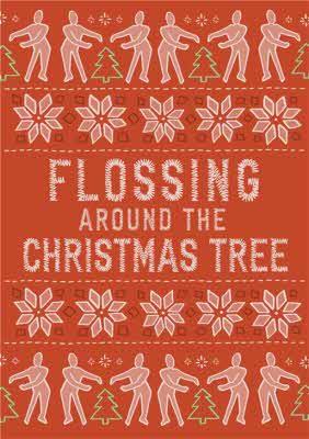 Christmas Card Flossing Around The Christmas Tree Fortnite Moonpig