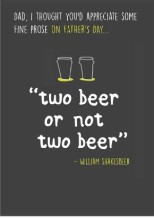 Greeting Cards - Beer Prose Happy Father's Day Card - Image 1