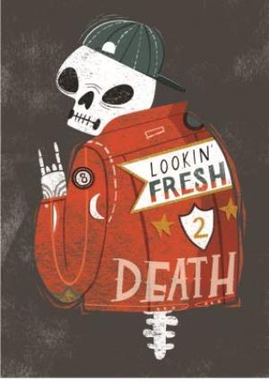 Greeting Cards - Birthday card - male birthday - looking fresh - skeleton - Image 1