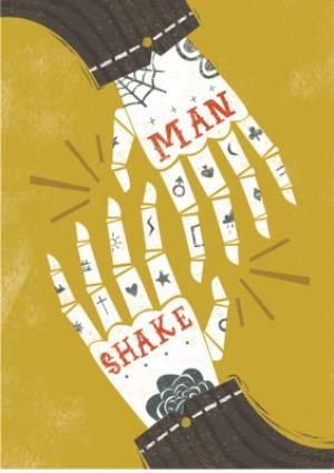 Greeting Cards - Birthday card - male birthday - man shake - handshake - skeleton - Image 1