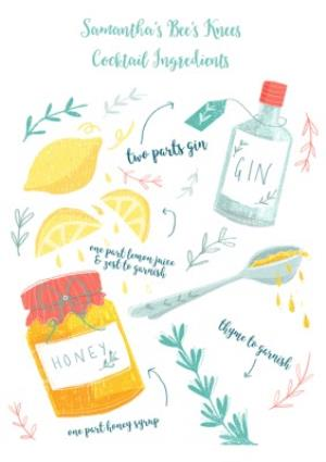 Greeting Cards - Birthday Card - Birthday Gin - Alcohol - Gin And Tonic - Image 2