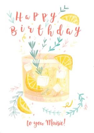 Greeting Cards - Birthday Card - Birthday Cocktail - Alcohol - Gin And Tonic - Image 1