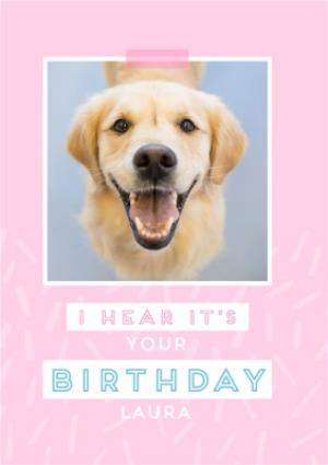 Female Modern Birthday Card For Her With Labrador Dog