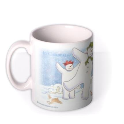Mugs - The Snowman Dancing Christmas Personalised Mug - Image 1