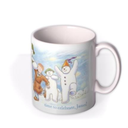 Mugs - The Snowman Dancing Christmas Personalised Mug - Image 2