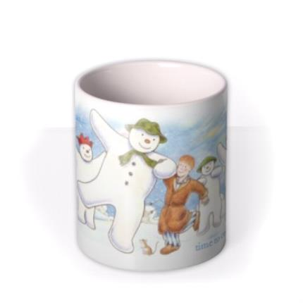 Mugs - The Snowman Dancing Christmas Personalised Mug - Image 3