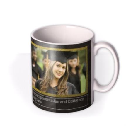 Mugs - Blackboard & Thumbs Up Graduation Photo Upload Mug - Image 2