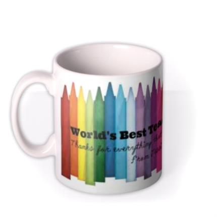 Mugs - World's Best Teacher Personalised Mug - Image 1