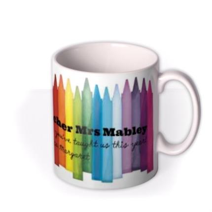 Mugs - World's Best Teacher Personalised Mug - Image 2